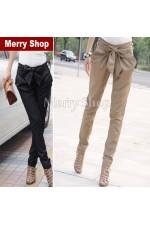 Модные женские длинные облегающие брюки со средней талией, повседневные (МMS-W-058)