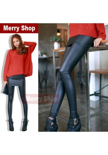 Женские всококачественные кожаные леггинсы-юбка (MS-MS-065)